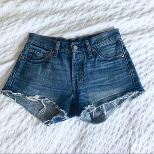 Levi's 501 Mid Rise Denim Shorts